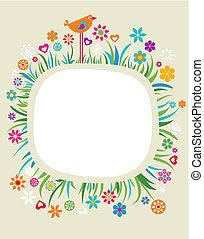 floral, frame, -, 4
