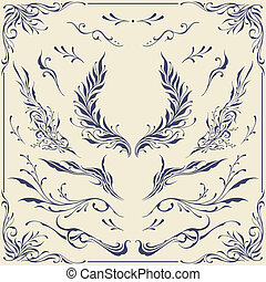Floral frame and Border Ornaments