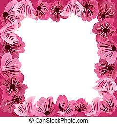 floral frame, background
