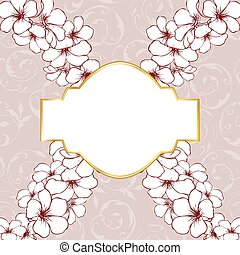 Floral frame card design