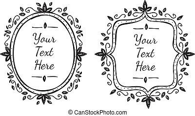 floral frame doodle