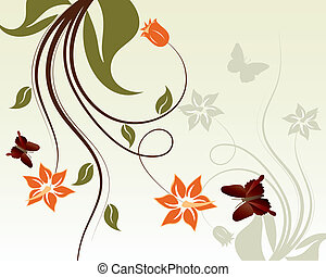 floral, frame