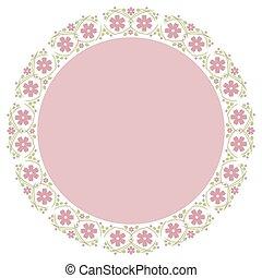 Floral Frame for wedding invitations