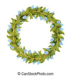 Floral frame or wreath design template