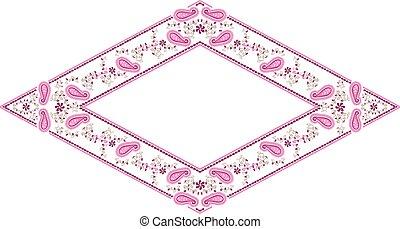 Floral frame paisley diamond
