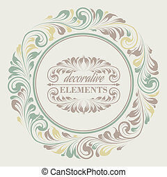 Floral frame with decorative elements.