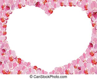 floral frame with heart