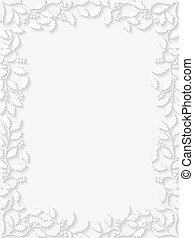 Floral frame with holly