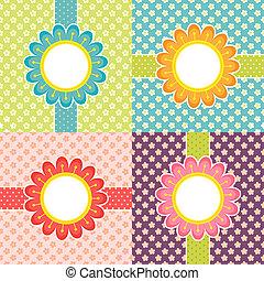 Floral frames - vector cards set