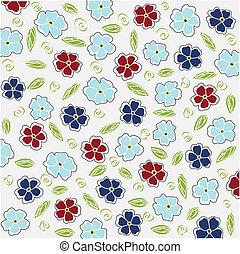 floral, fundo, cartão