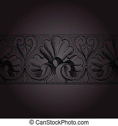 floral, fundo, modelo