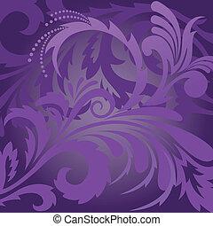 floral, fundo, violeta