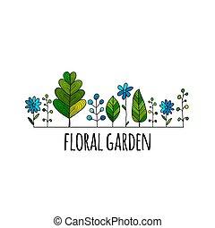 Floral garden, sketch for your design