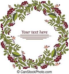 Floral garland, floral wreath