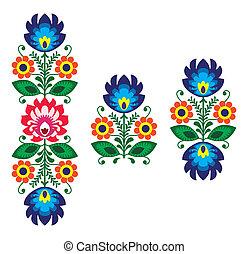 floral, -, gente, bordado, traditiona
