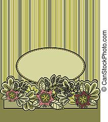 floral, gestreepte achtergrond