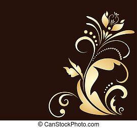 Floral gold corner