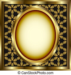 Floral Gold Frame With Pattern