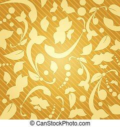 Floral golden background