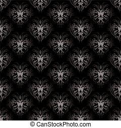 floral, gotisch, black