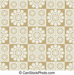 floral, gouden, seamless, achtergrond