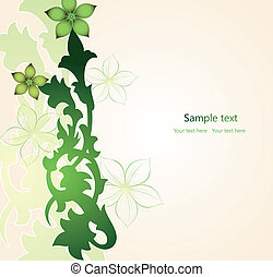 Floral green Background. Vector