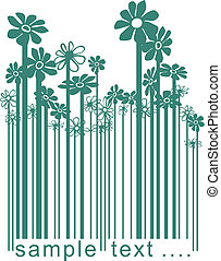 Floral green barcode