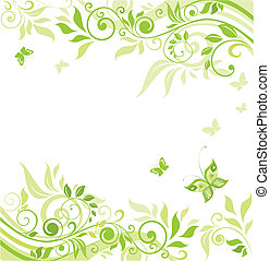 Floral green border