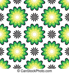 floral green seamless pattern