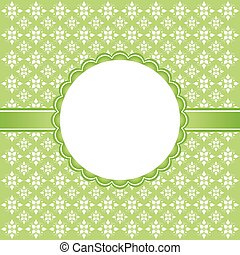 Floral green template