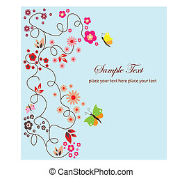 floral greeting card background