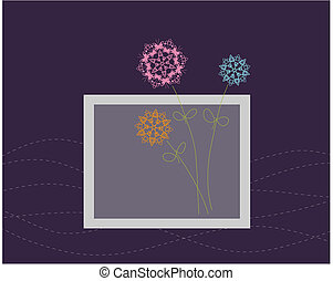 Floral greeting card design