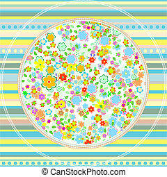 floral greeting card pattern vector