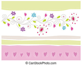 Floral Greeting Card Vector Illustration