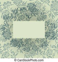 floral, grijze achtergrond