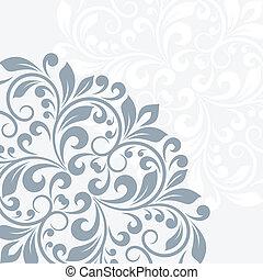 floral, groet, card.
