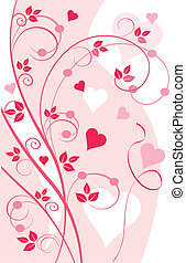 floral grunche with hearts