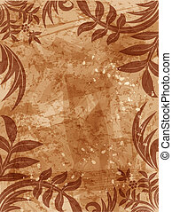 floral grunge background - vector