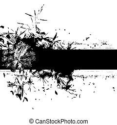 floral grunge banner