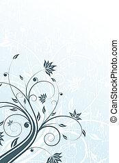floral, grunge, boekrol