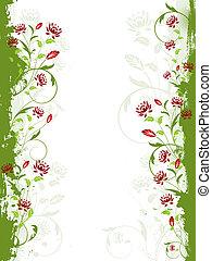 Floral grunge border