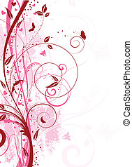 Floral grunge - Decorative floral grunge background with...