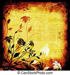 Floral grunge - Floral design on grunge