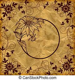 floral grunge illustration