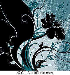 Floral Grunge Pattern
