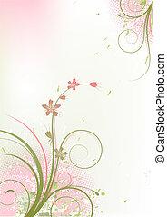floral, grunge, plano de fondo