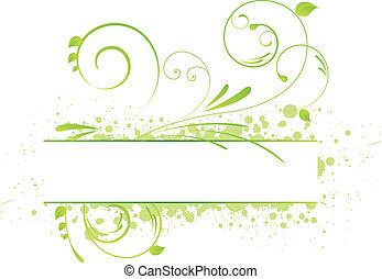 floral, grunge, spandoek