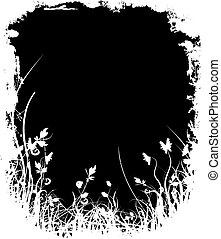 Floral grunge - Abstract floral grunge background