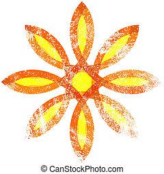 Floral Grunge Symbol