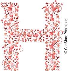 floral, h, romanticos, letra